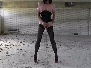 Marie Corset Lost Place Sissy Orgasm