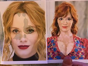 Christina Hendricks Cum tribute 13