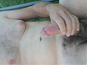 Masturbation in the garden