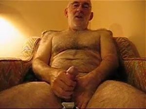 Hairy silver bear wank